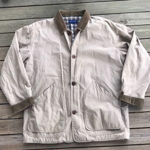 J Crew Barn Jacket coat large lined plaid